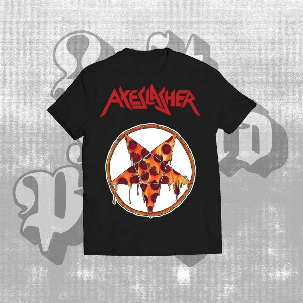 Axeslasher Pizzagram t-shirt black
